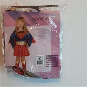 Toddler kids girl supergirl costume